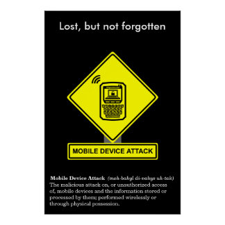 Mobile Device Attack Security Awareness Poster