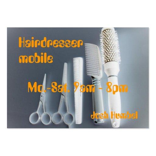 Mobile Hairdresser Business Cards Pack 100