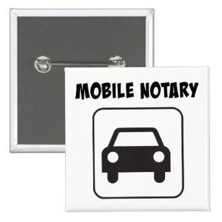 Mobile Notary Public Car Sign 15 Cm Square Badge