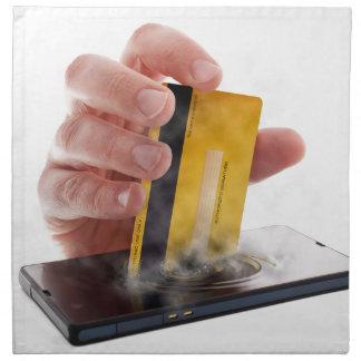 Mobile payment cloth napkins