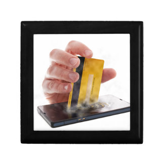 Mobile payment small square gift box