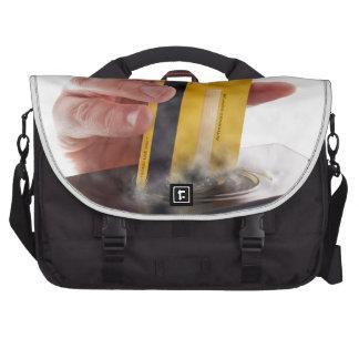 Mobile payment laptop commuter bag