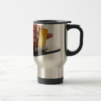 Mobile payment stainless steel travel mug
