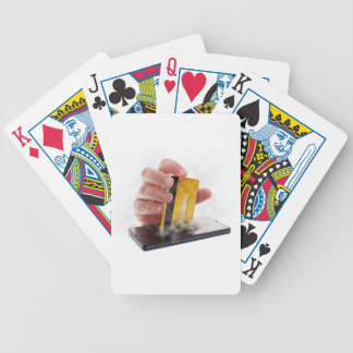Mobile payment poker cards