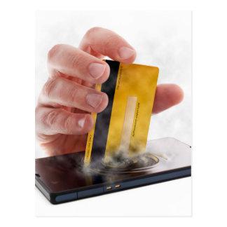 Mobile payment postcard