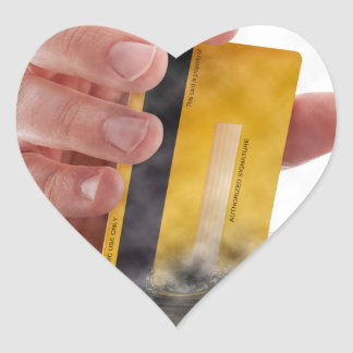 Mobile payment heart sticker