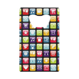 Mobile Phone App Icons Pattern