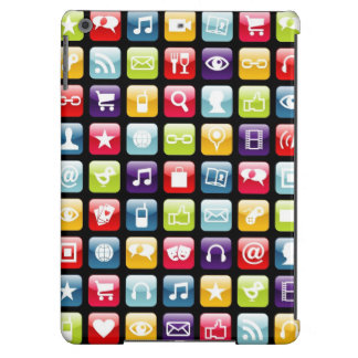 Mobile Phone App Icons Pattern iPad Air Covers