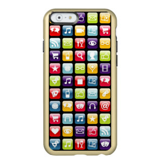 Mobile Phone App Icons Pattern Incipio Feather® Shine iPhone 6 Case