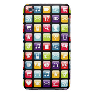 Mobile Phone App Icons Pattern iPod Touch Covers