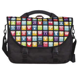 Mobile Phone App Icons Pattern Bag For Laptop