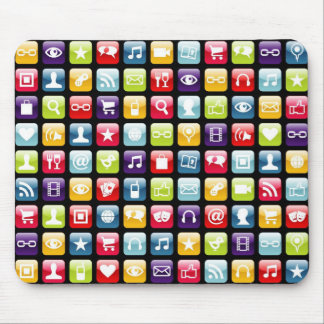 Mobile Phone App Icons Pattern Mousepads