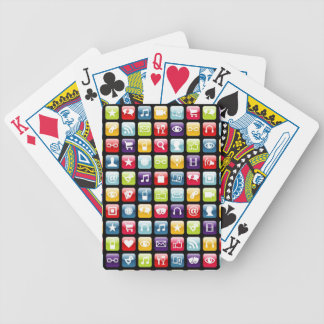 Mobile Phone App Icons Pattern Poker Cards