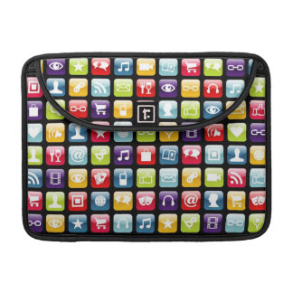 Mobile Phone App Icons Pattern Sleeve For MacBook Pro