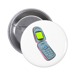 Mobile Phone Pinback Button
