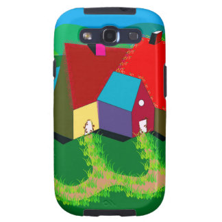 Mobile Phone Case with Folk Art Samsung Galaxy S3 Covers