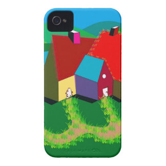 Mobile Phone Case with Folk Art iPhone 4 Case-Mate Cases