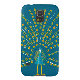 Mobile Phone Case with Peacock Illustration