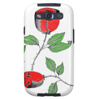 Mobile Phone Cover with Roses Samsung Galaxy SIII Cover