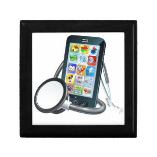 Mobile Phone Health Concept Gift Box