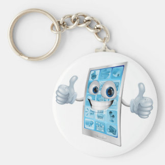Mobile phone mascot double thumbs up keychains