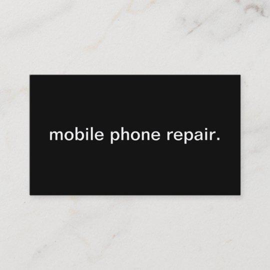 Mobile Phone Repair Business Card Zazzle