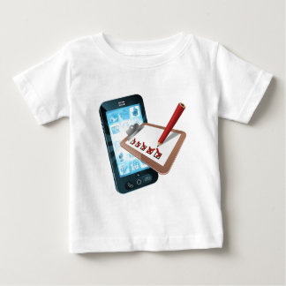 Mobile Phone Survey Concept Baby T-Shirt