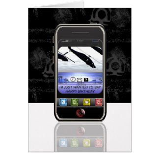 mobile phone text message Happy Birthday Card