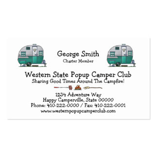 Mobile Scout Camper Pack Of Standard Business Cards