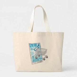 Mobile shopping app concept bags