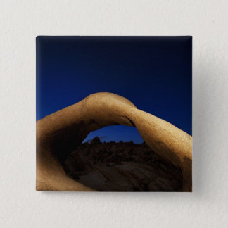 Mobius Arch illuminated in the Alabama Hills 15 Cm Square Badge