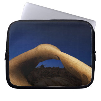 Mobius Arch illuminated in the Alabama Hills Laptop Sleeve