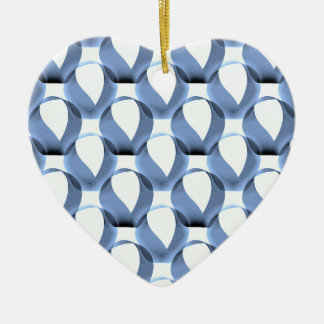 Mobius Strip Pattern Ceramic Heart Decoration