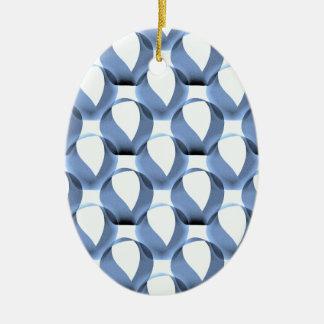 Mobius Strip Pattern Ceramic Oval Decoration