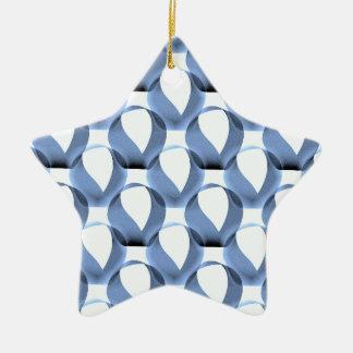 Mobius Strip Pattern Ceramic Star Decoration