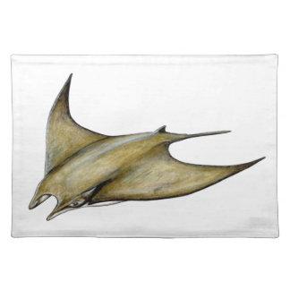 Mobula tarapacana- Weak Blanket blanket ray napkin Placemat
