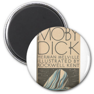 Moby Dick Cover 6 Cm Round Magnet
