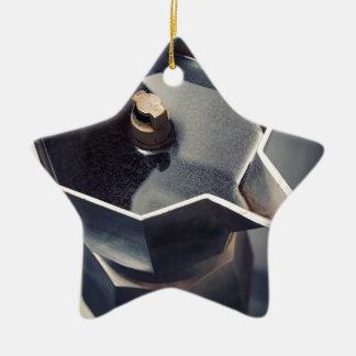 Moca coffee ceramic star decoration