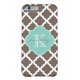 Mocha and Mint Moroccan Quatrefoil Print Barely There iPhone 6 Case