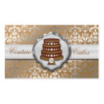 Mocha Brown Cake Couture Glitzy Damask Cake Bakery Pack Of Standard Business Cards