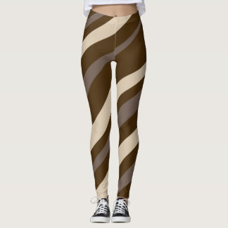 Mocha Candy Cane Leggings