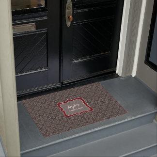 Mocha Damask stylish personalised Doormat