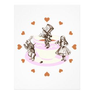Mocha Hearts Around a Mad Tea Party Flyer Design