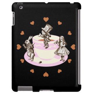 Mocha Hearts around a Mad Tea Party iPad Case