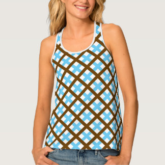 Mocha Ice Neoplaid Tank Top