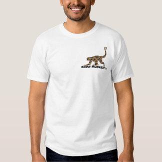 Mocha - Munkey front / Longboarder back Tee Shirts