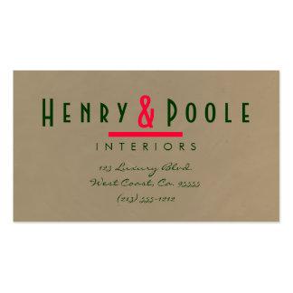 Mocha Plaster Interior Designer Pack Of Standard Business Cards