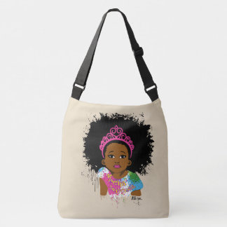 Mocha Princess All Over Print Cross Body Crossbody Bag