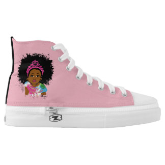 Mocha Princess High Tops Printed Shoes