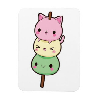 Mochi Ice Cream Kittens Magnet